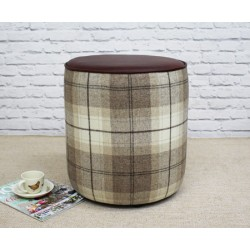 Tall Drum Stool with Piping