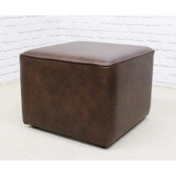 Short Cube Footstool with piping