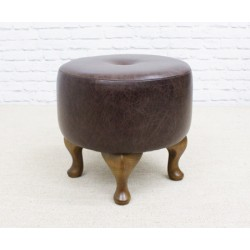 Short Buttoned Drum Stool