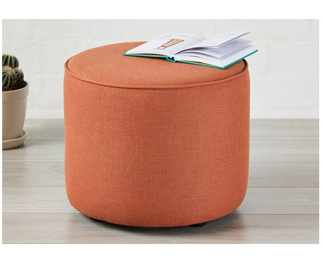 SALE Camden Medium Piped : Short Drum Stool with Piping