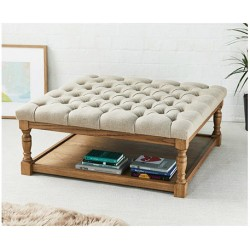 Buttoned Footstools Handmade In Uk Free Delivery