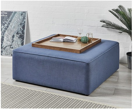 Porto : Square Piped Coffee Table Stool