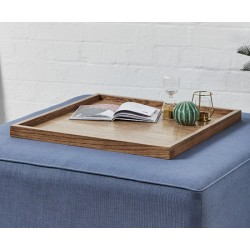 Square Wooden Tray : Dark Oak