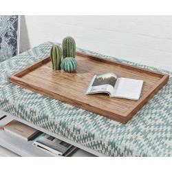 Rectangular Wooden Tray : Dark Oak