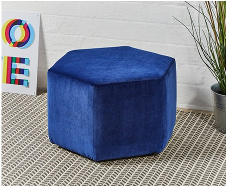 Spencer Short : Short Hexagonal Footstool