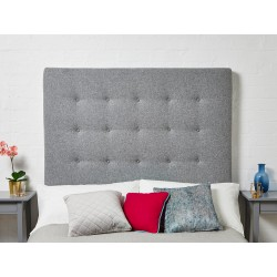 Preston Single Tall : Tall Shallow Buttoned Headboard
