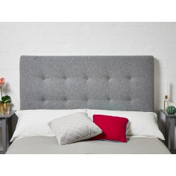 Preston 4ft Double Short : Short Shallow Buttoned Headboard