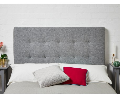 Preston Super King Short : Short Shallow Buttoned Headboard