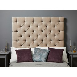 Olivia Single Tall : Tall Deep Buttoned Headboard