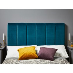 Archie Double Short : Short Vertical Padded Headboard
