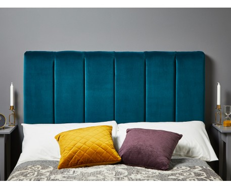 Archie Kingsize Short : Short Vertical Padded Headboard