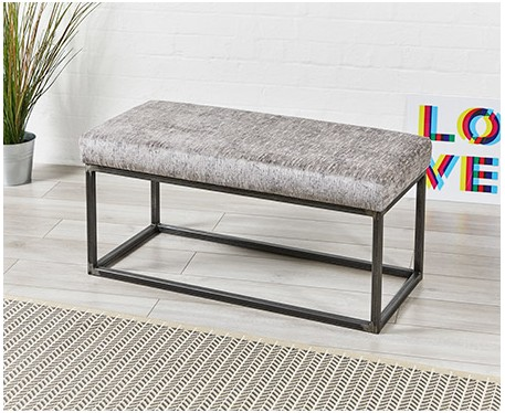Frankfurt Plain Metal Bench