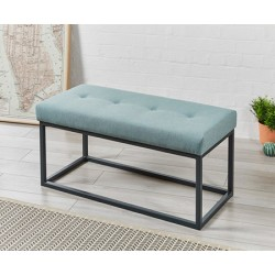 SALE Frankfurt Shallow Buttoned : Metal Bench