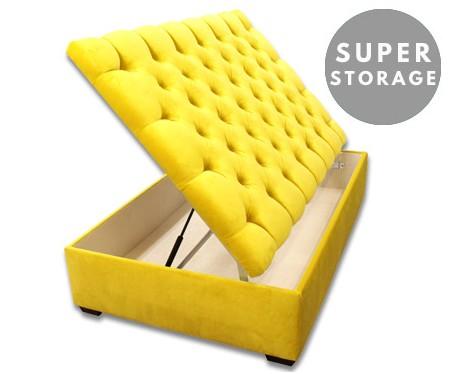 Lexington Super Storage : Extra Large Buttoned Storage Ottoman