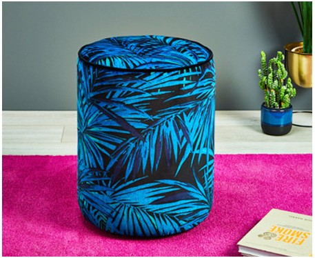 Camden Tall Piped : Tall Drum Stool with Piping
