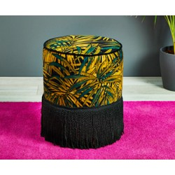 Camden Grande Fringe : Drum Stool with Fringe