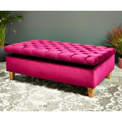 Lexington Storage : Deep Buttoned Storage Ottoman