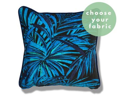 Leather/Idaho Fabric : Square Piped Cushion