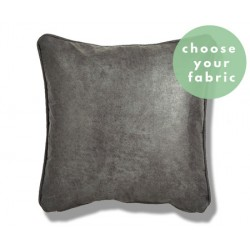 Leather/Idaho Fabric : Square Piped Cushion