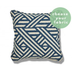 Patterned Cushions : Square Piped Cushion