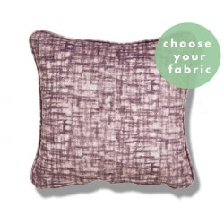 Velvet Cushions : Square Piped Cushion