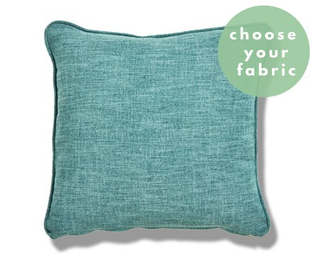 Easy Clean Plain Cushions : Square Piped Cushion