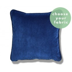 Italian Velvet Cushions : Square Piped Cushion
