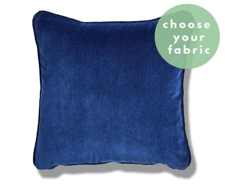 Italian Velvet Cushions : Square Piped Cushion