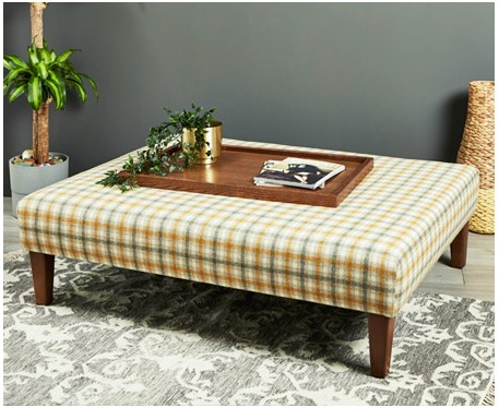 Heritage : Large Rectangular Coffee Table Stool