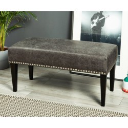 Canterbury Studded : Plain Bench Stool with studs