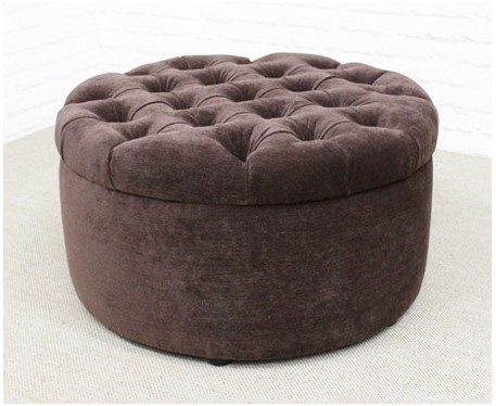 Capri Two : Medium Circular Buttoned Footstool