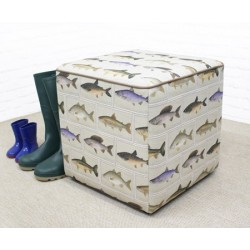 Cube Footstool with Piping