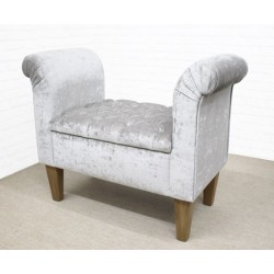 Deep Buttoned Scroll Bench