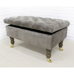 Deep Buttoned Storage Bench  sc 1 st  Footstools \u0026 Storage & Hallway Bench | Wooden Storage Hallway Bench stools in UK (2 ... islam-shia.org