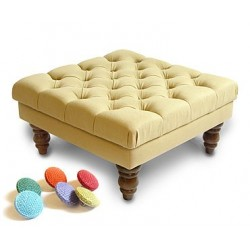Colour Button Footstool