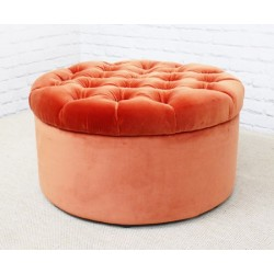 Medium Circular Buttoned Footstool