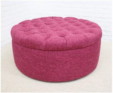 Medium Circular Buttoned Footstool