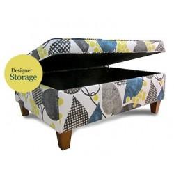 Designer Piped Storage Ottoman