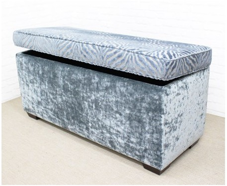Plain Storage Ottoman with Piping