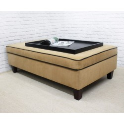 Designer Piped Storage Ottoman