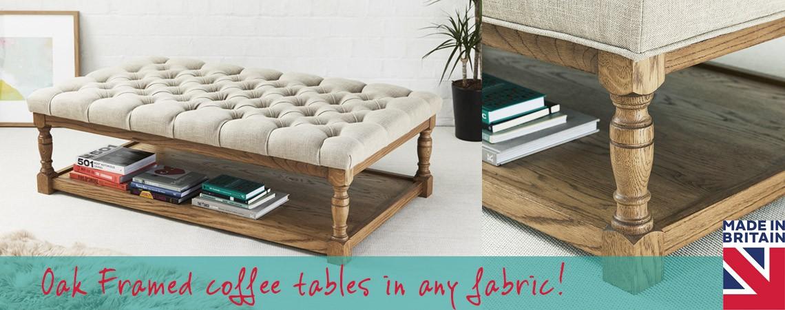 Oak framed coffee tables