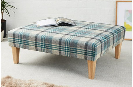 Footstools Finished In Any Material That You Desire